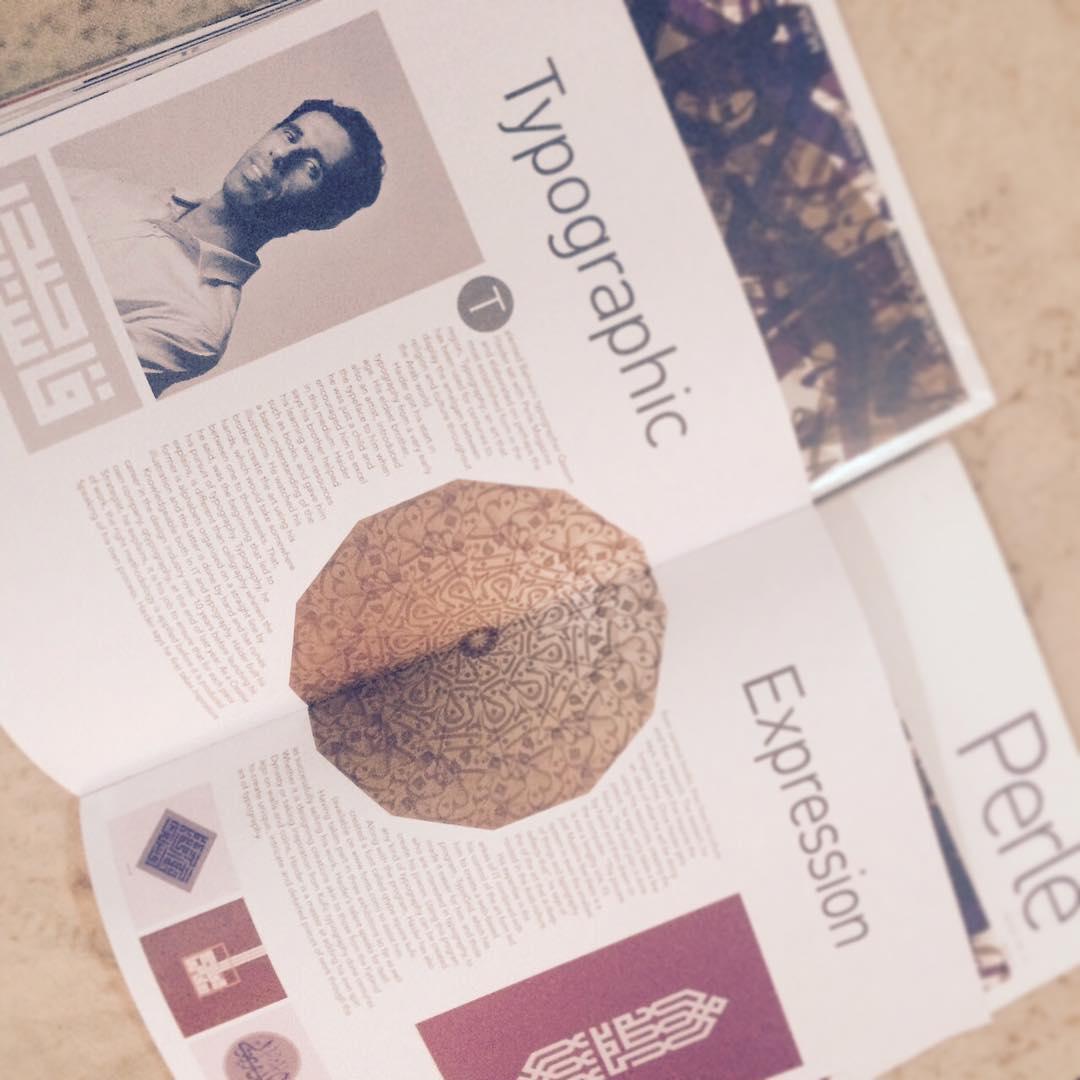 "Perle Magazine interview ""Typographic Expression"""